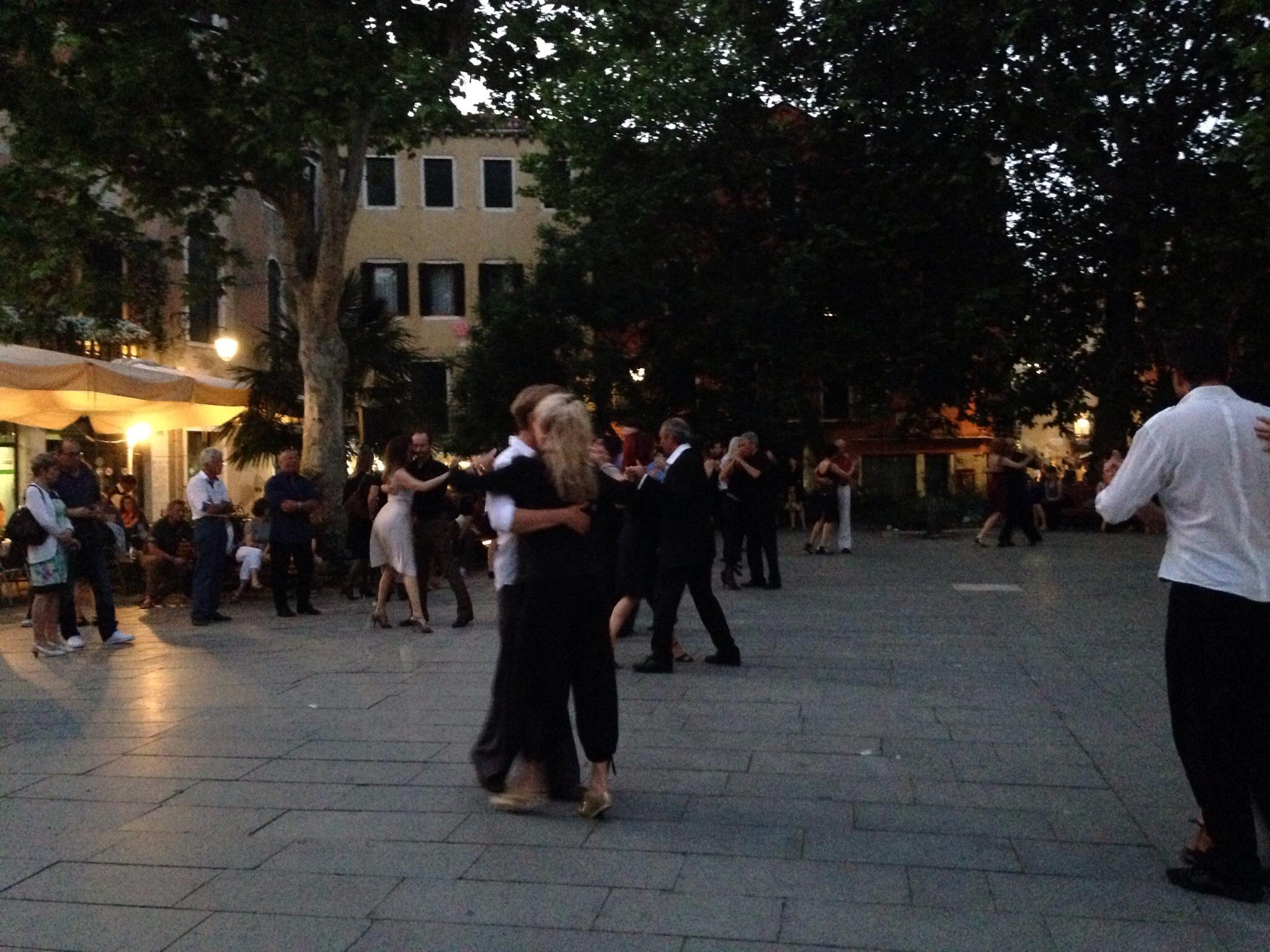 Tango dancing in Venice 2015